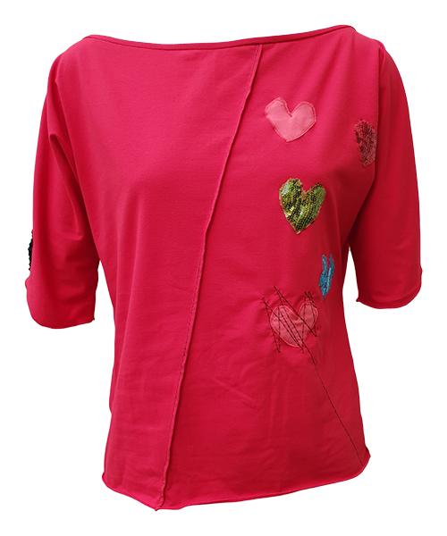 Unikatna majica Heart Red
