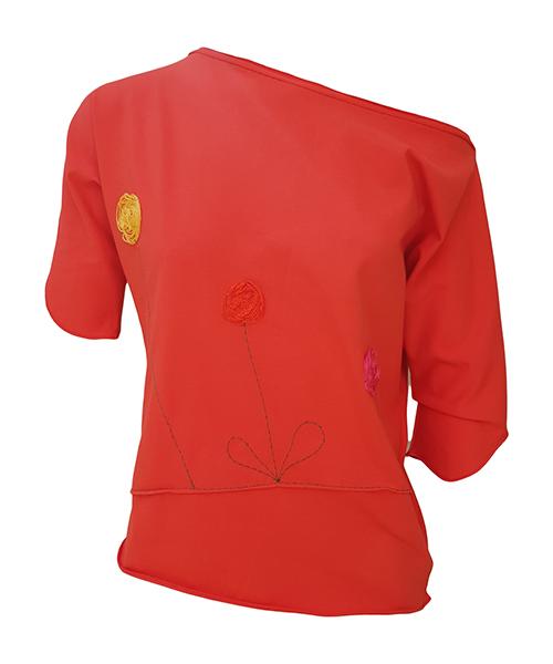 Unikatna majica Orange Rose