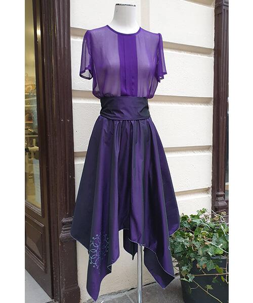 Krilo Carda Violet in bluza Chiffon Violet