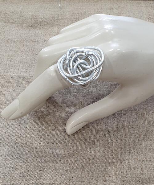 Prstan Silver Wire Nest