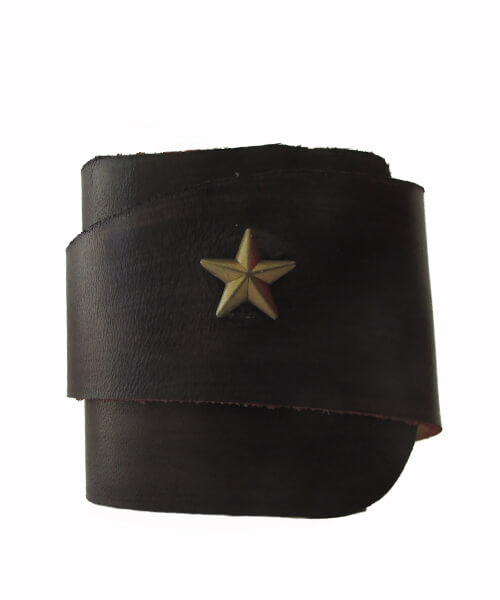 Usnjena zapestnica Blue Star