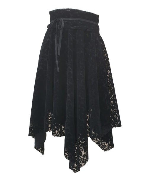 Skirt Black Lace with belt