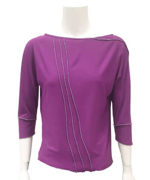 Majica Basic Violet spredaj