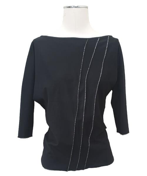 Majica Basic Black spredaj