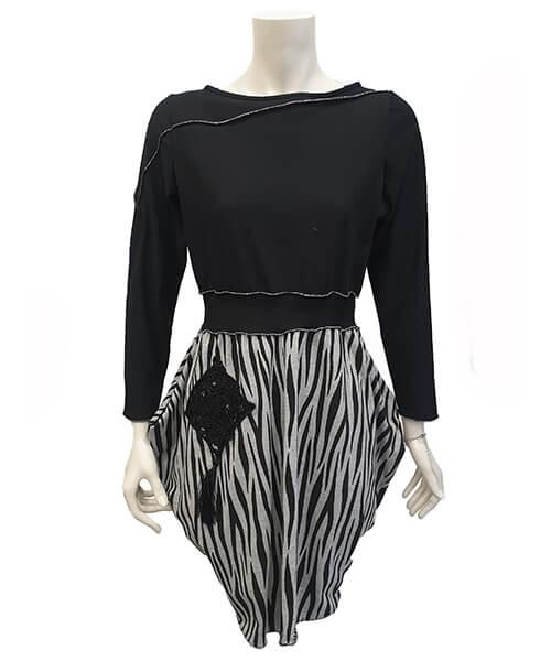 Obleka Cardish Jungle Black spredaj